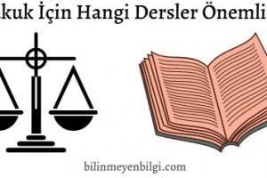 Hukuk için hangi derslerin iyi olması gerekir
